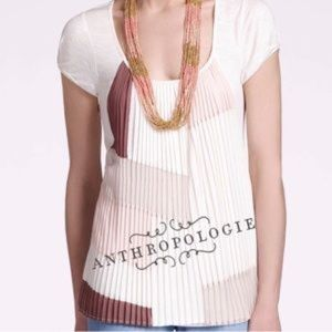 Anthropologie NEW! One September Color Block top